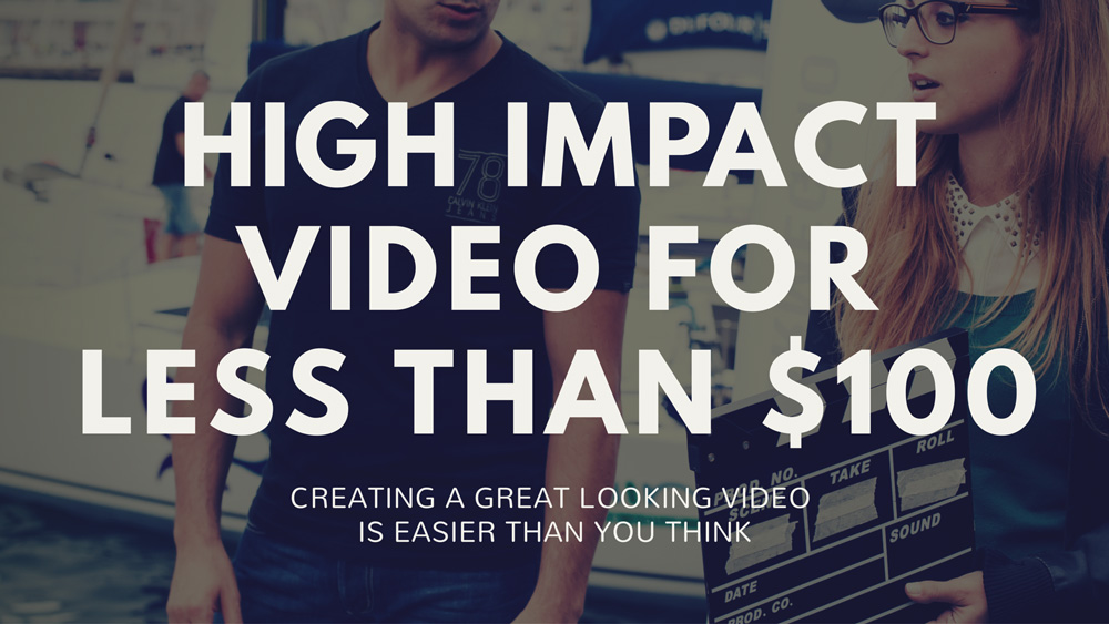 High impact crowdfunding video for less than $100 @cfblueprint www.cfblueprint.com
